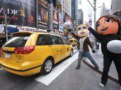 In this photo provided by Nintendo of America, Mii characters try to hail a cab in Times Square on Nov. 16, 2012. They were spotted around the city inviting fans to the Wii U midnight launch event at Nintendo World. Wii U, the newest home console from Nintendo, launches on Nov. 18, 2012 and is set to change the way people interact with their games, their TVs and each other. Photo Credit: Anders Krusberg/AP Images for Nintendo of America