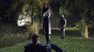 Helena the Huntress [the potential Mrs. Arrow] wonders if her father understands the point she is trying to make.