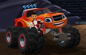 Blaze and the Monster Machines Pictured:  A.J. and Blaze in Blaze and the Monster Machines on Nickelodeon.  Photo Credit:  Nickelodeon. ©2013 Viacom International, Inc.  All Rights Reserved.