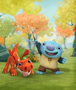 Wallykazam! Pictured: Wally Trollman and his pet dragon, Norville in Wallykazam! on Nickelodeon.  Photo Credit: Nickelodeon. ©2013 Viacom, International, Inc. All Rights Reserved.