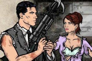 Archer explains to Cheryl what his big gun is used for.
