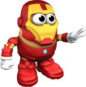 MR. POTATO HEAD is ready to save the world as MARVEL'S , IRON MAN
