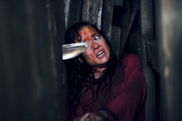 Not enough fake blood was used in this scene from a previous 'Evil Dead' movie, but more has been promised in the upcoming remake as well as the sequel to the remake [yes, you read that right].
