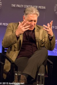 Clancy Brown relaying the story of how he was cast as Lex Luthor in Superman the Animated Series (see the panel writeup below for details)