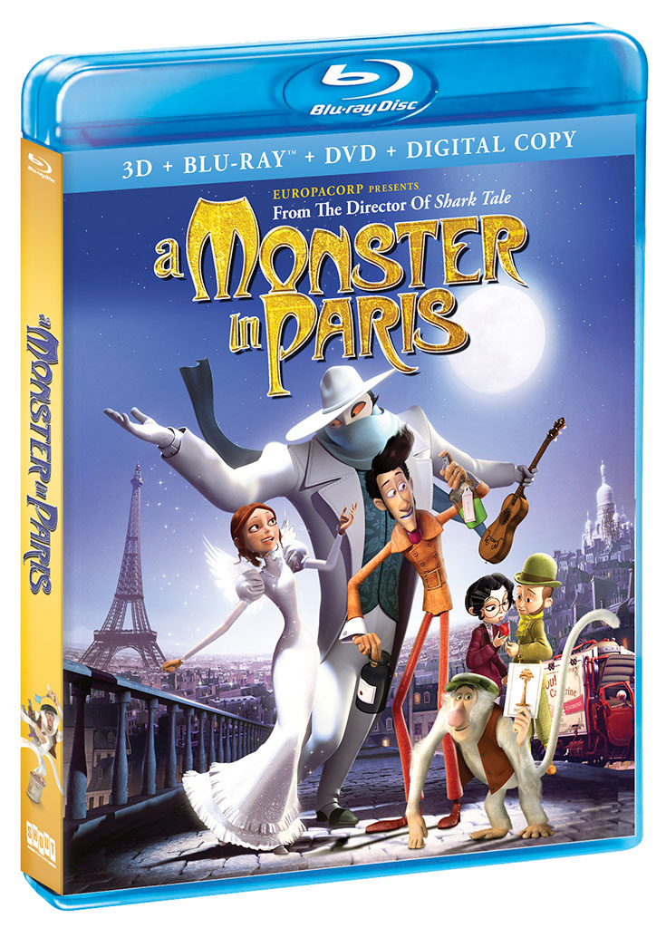 A Monster in Paris Blu-ray box art
