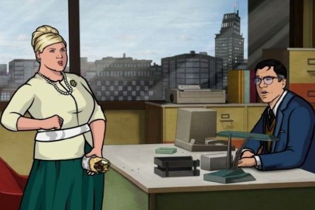 Using the popular sex imitator gyro prop, Pam demonstrates for Cyril how Lana and Archer are probably banging.