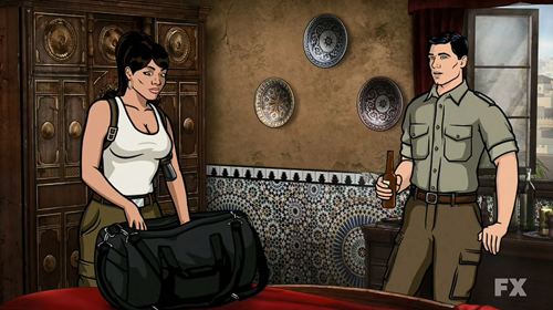 Lana finds sleep difficult in Tangiers, Morocco while Archer admires the repulsively low consent age.