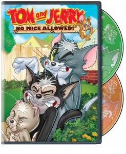 Tom and Jerry No Mice Allowed DVD Box Art
