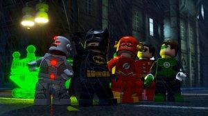 Lego Batman - Cyborg, Batman, Flash, Robin, and Green Lantern