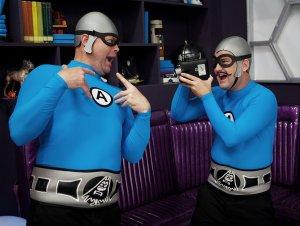 Aquabats Super Show - Crash McLarson and MC Bat Commander