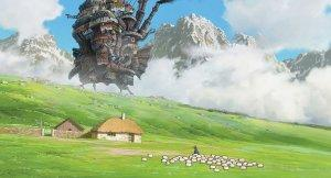 Howl's Moving Castle ambling through the countryside