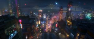 Big Hero 6 - San Fransokyo Night Scene