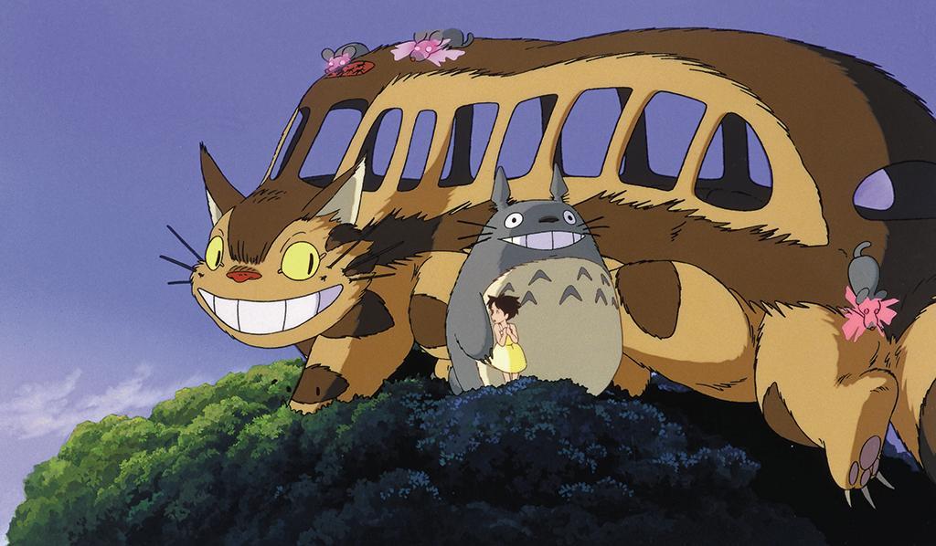 My Neighbor Totoro - Catbus, Satsuki, and Totoro