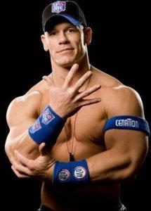 Pro wrestler John Cena - soon to morph into John Cenastone for the upcoming animated Flintstones flick.