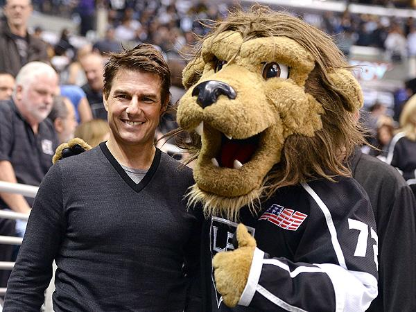 "Tom Cruise has time to root for the Los Angeles Kings hockey team - but not to make ""The Man From U.N.C.L.E."" movie."