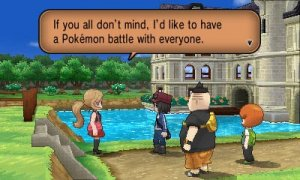 Boy Trainer meeting Serena screenshot