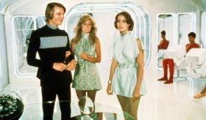 "Michael York, Farrah Fawcett and Jenny Agutter contemplate their fate after they reach age 30 in ""Logan's Run""."