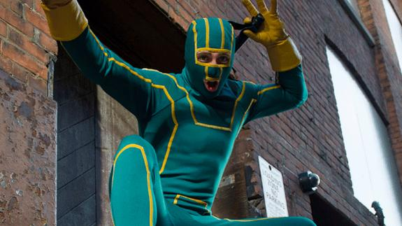"Aaron Taylor Johnson in ""Kick-Ass"" mode."