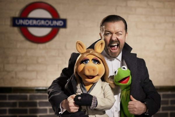 Ricky Gervais meets the Muppets next July.