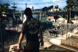 """Nick ponders which zombies to run over with his car next in """"Dead Rising 3""""."""