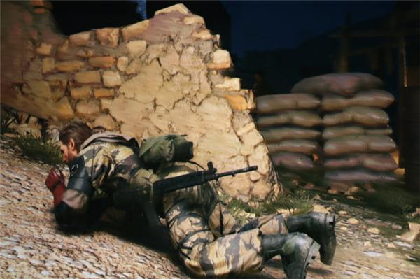 "An example of either ""stealth action"" or ""tactical espionage"" in the new ""Metal Gear Solid 5: The Phantom Pain""."