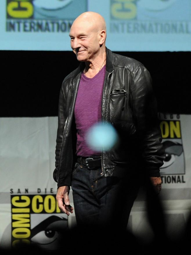 "Patrick Stewart makes an appearance at Comic-Con 2013 in San Diego as part of the ""X-Men: Days of Future Past"" panel."