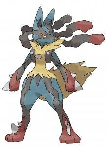 Mega Lucario_official art_300dpi