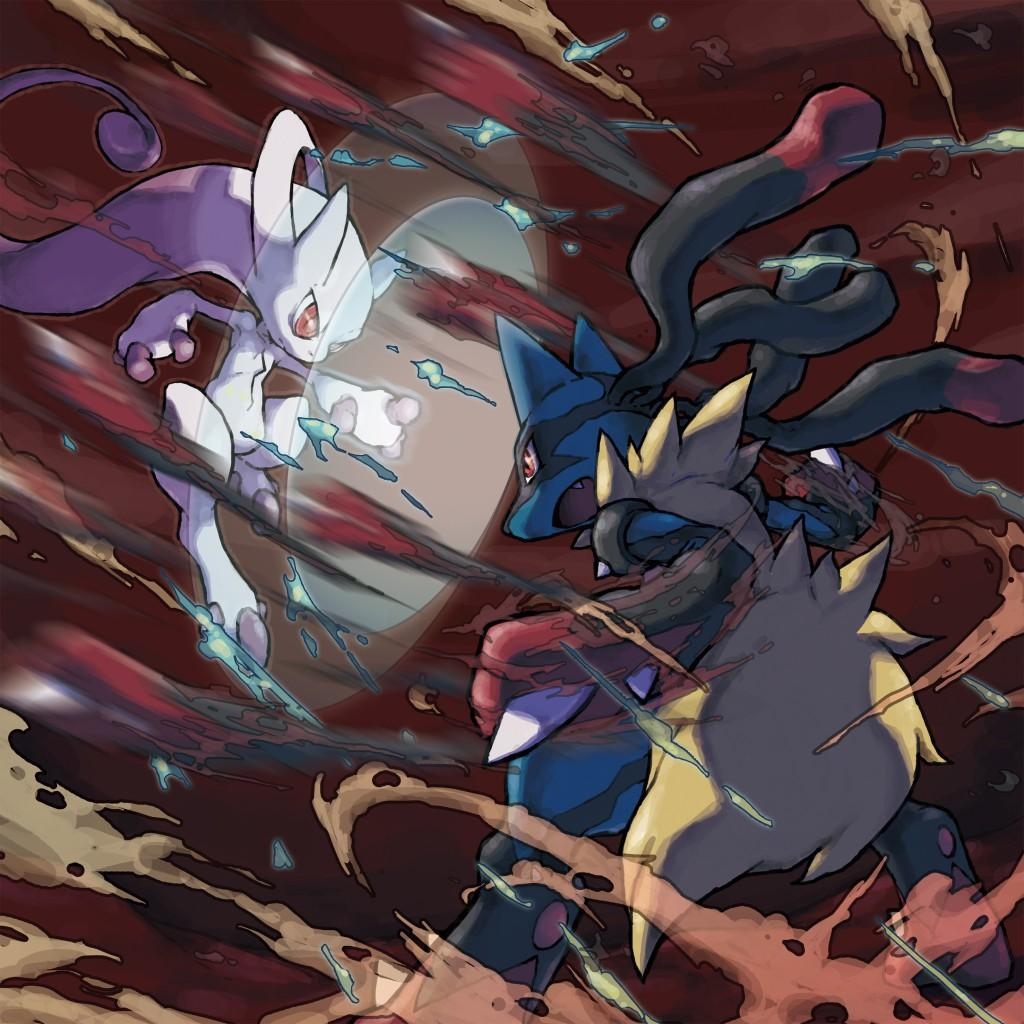 Mega Mewtwo vs Mega Lucario_official illustration _300dpi