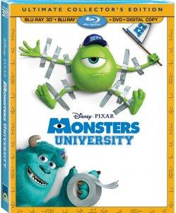 Monsters University 3D Blu-ray Combo Pack Box Art