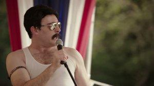 Fake Freddie Mercury [James Adomian] performs for the Childrens' Hospital Stars & Stripes Show.