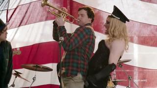 As do Owen on his trumpet and Fake Madonna [Adomian].