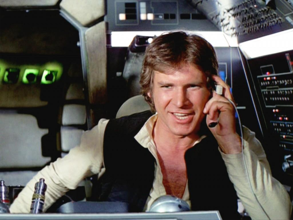 "Harrison Ford back in the good ole days as Han Solo in ""Star Wars"". Sigh."