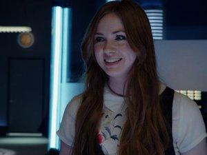 Daisy [Karen Gillan] insists on being called Gadget Girl.