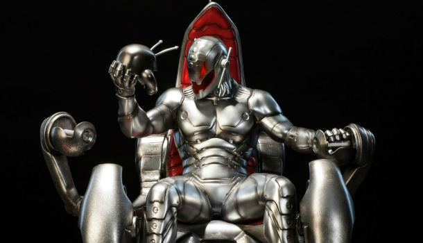 Approximately what Spader will look like as Ultron after special effects is done with him.