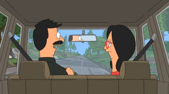 The Belcher family camping trip begins innocently enough with Bob not watching the road while driving.
