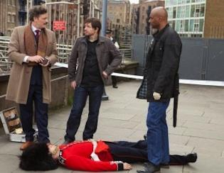 Trent is displeased to learn the Buckingham Palace guard is really dead and not faking a soccer injury.