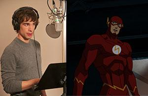 "Chris Gorham as the Flash in ""Justice League: War"", courtesy of Gary Miereanu"