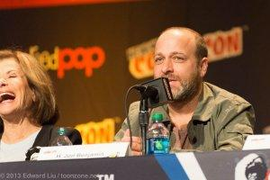 NYCC 2013 Archer Panel Jon Benjamin making Jessica Walter crack up