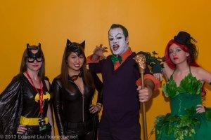 New York Comic Con NYCC 2013 Cosplay Batgirl, Catwoman, Joker, and Poison Ivy