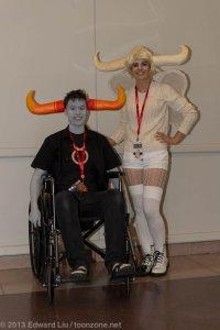 New York Comic Con NYCC 2013 Cosplay Tavros and Tinker Bull