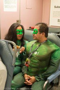 NYCC 2013 Cosplay Superhero Downtime Green Lanterns