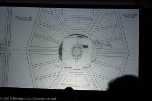 NYCC 2013 Star Wars Rebels - TIE Fighter ILM Blueprints