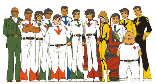 The cast of Star Blazers.