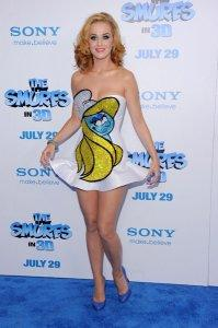 Katy Perry was the voice of Smurfette in Smurfs 2.