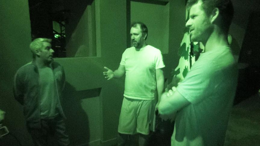Pondering what Kenny might do during a power outage at South Park Studios.