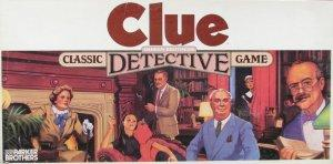 """Clue"" - a candidate for theh National Toy Hall of Fame - we think Colonel Mustard did it with the candlestick in the study."