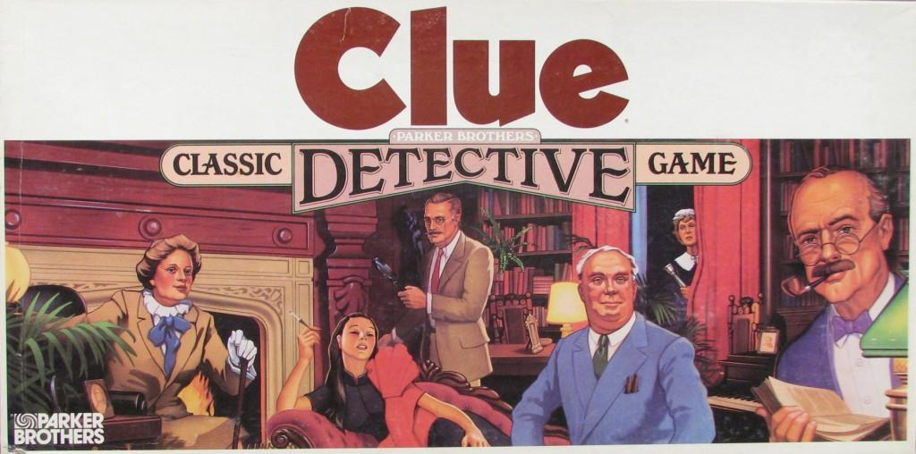 """""""Clue"""" - a candidate for theh National Toy Hall of Fame - we think Colonel Mustard did it with the candlestick in the study."""