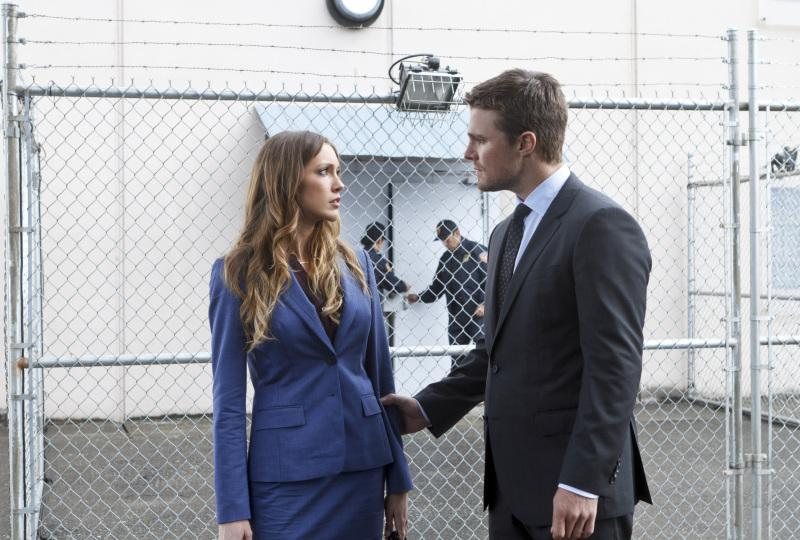 Oliver is displeased with Laurel prosecuting his mother, Moira.