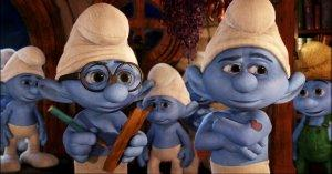 The Smurfs 2 Brainy and Hefty Smurf