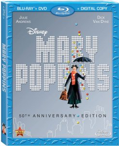 Mary Poppins Blu-ray 50th Anniversary Box Art